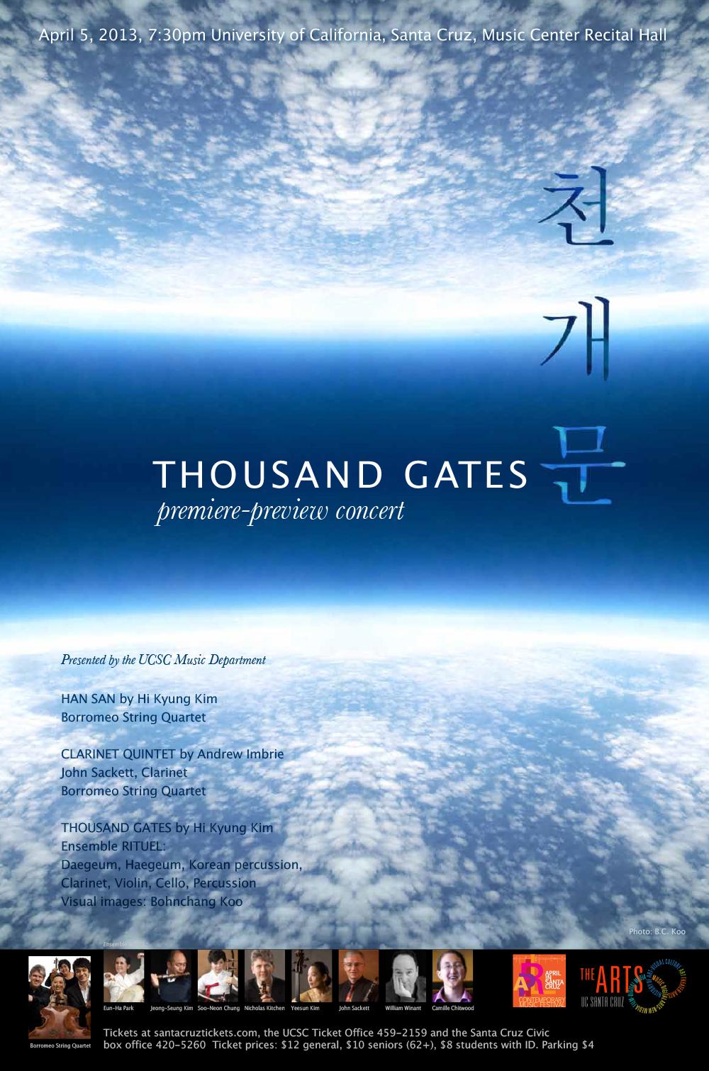 Thousand Gates concert poster
