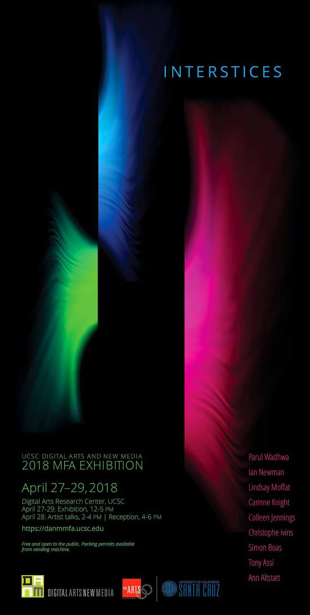 Interstices DANM MFA poster