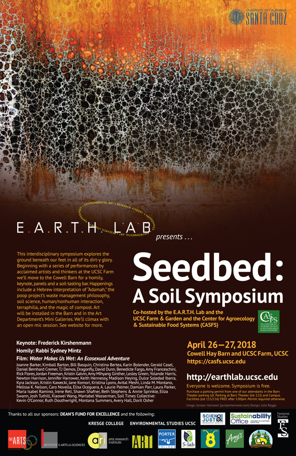 Seedbed: A Soil Symposium poster